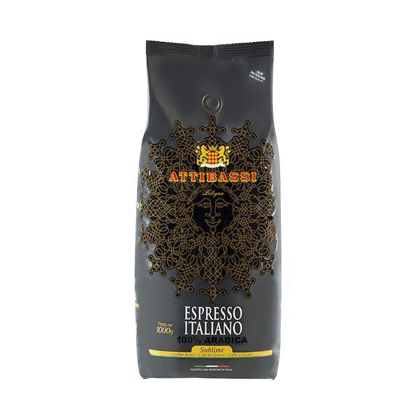 attibassi 100% arabica 1kg zrnkova kava
