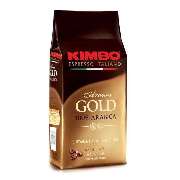 kimbo aroma gold 100% arabica 1kg zrnkova kava