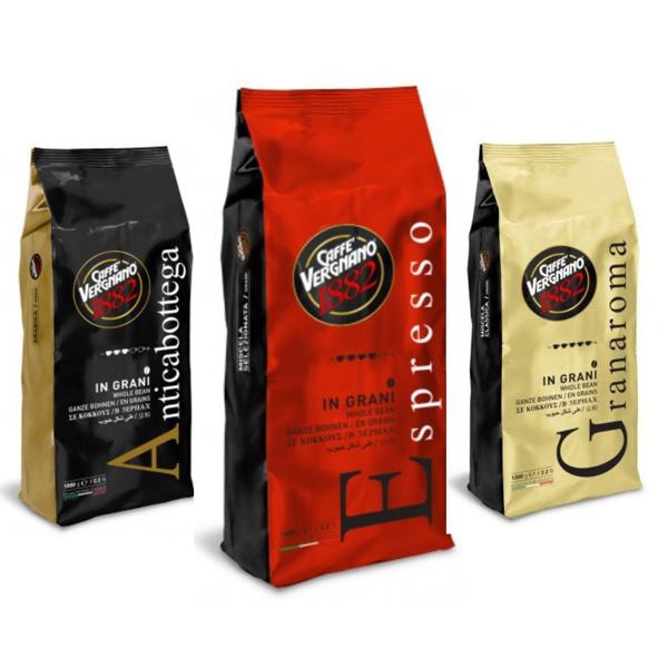 vergnano antica bottega espresso gran aroma 3kg zrnkova kava