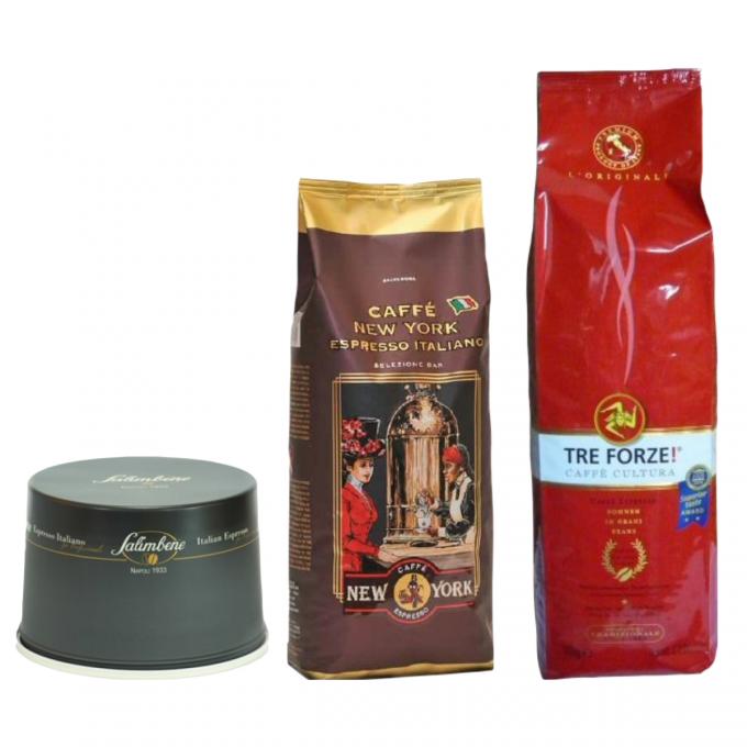 salimbene caffetteria tre forze New York EXTRA 3kg zrnkova kava original